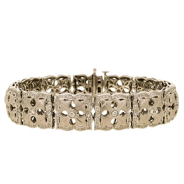 Charles Krypell 18k and Diamond Bracelet