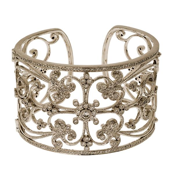 Leslie Greene Gold and Diamond Cuff