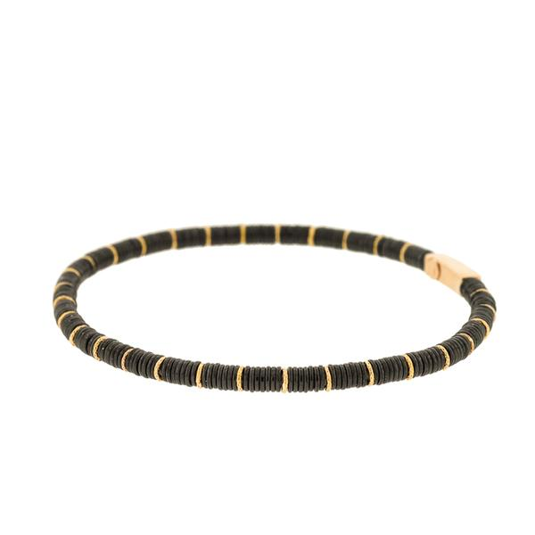 18KT. YELLOW GOLD /BLACK CERAMIC BRACELET