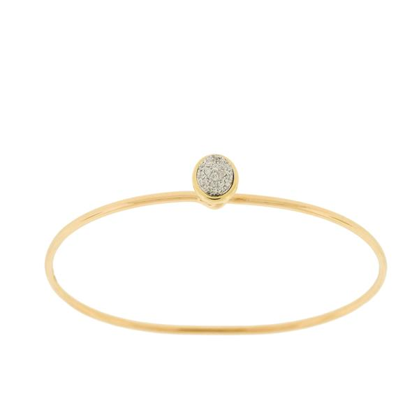 STACKING PAVE DIAMOND BAUBLE BANGLE BRACELET