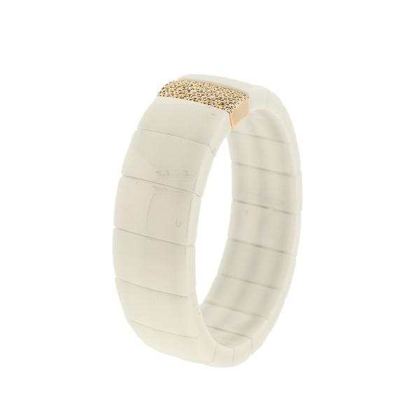 18KT. SINGLE ROW CERAMIC BRACELET;