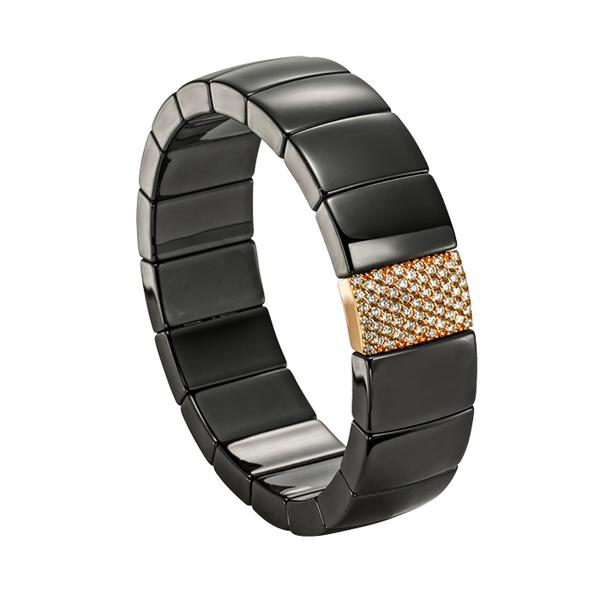RECTANGULAR BLACK CERAMIC BRACELET