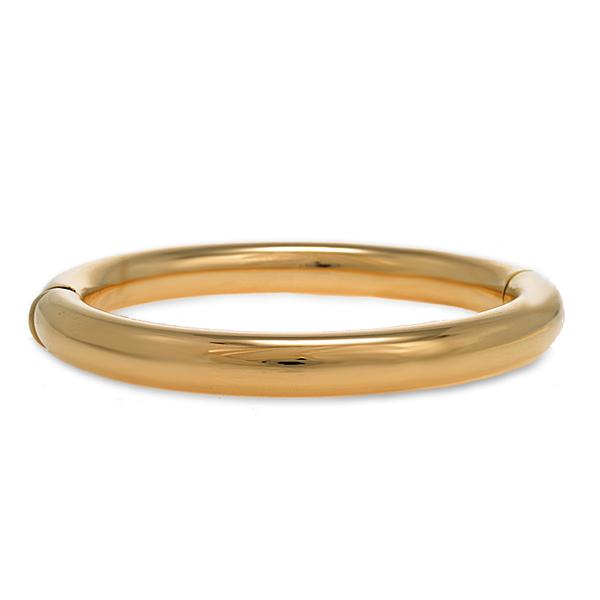 18k Yellow Gold Round Bangle 8mm