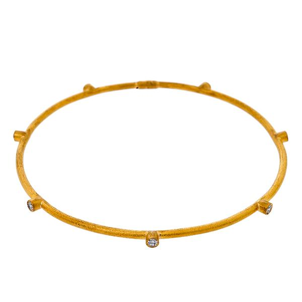 Yossi Harari 24k Gold and Diamond Bangle