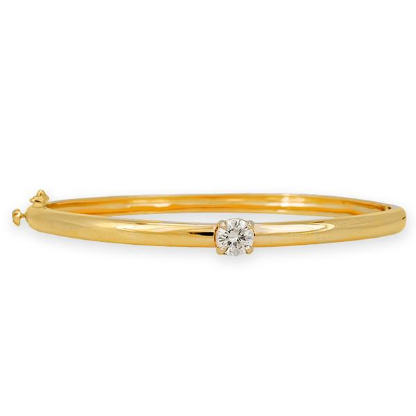 14k Yellow Gold and Diamonds