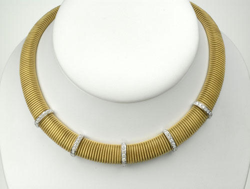 Legnazzi 18k Collar with Diamonds