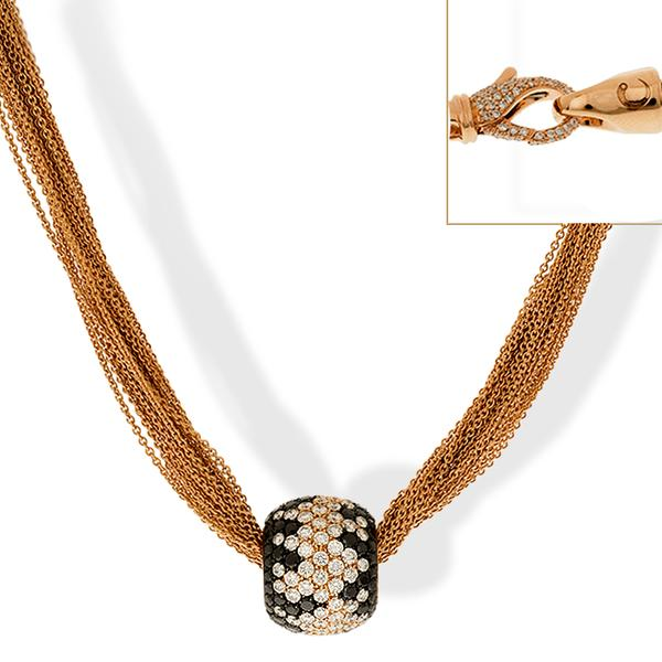 Crivelli 18k Rose Gold and Diamond Necklace