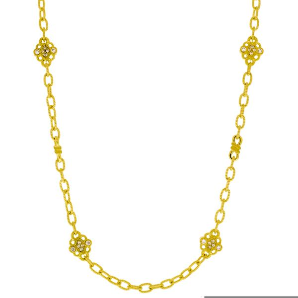 Tilden ross judith ripka judith ripka estate 18k rolo link necklace with diamonds400 00655 aloadofball Gallery