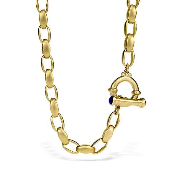 Maza Oval Rolo Link 22k Necklace