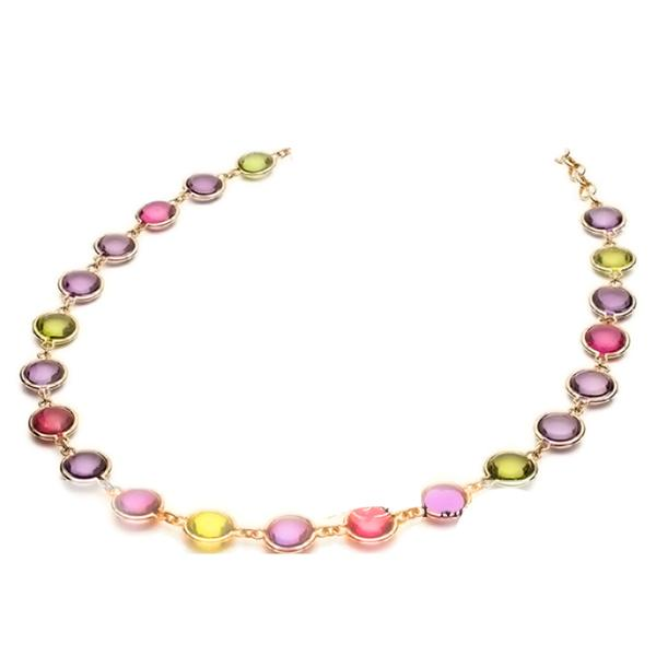 MULTI-STONE GEM NECKLACE