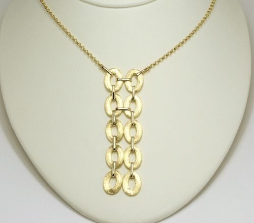 Nanis 18k Yellow Gold Oval Link Necklace