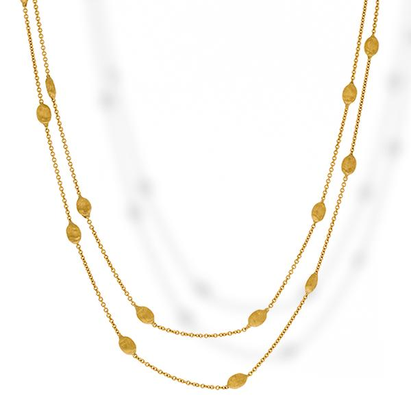 Bicego Long 18k Bead Necklace