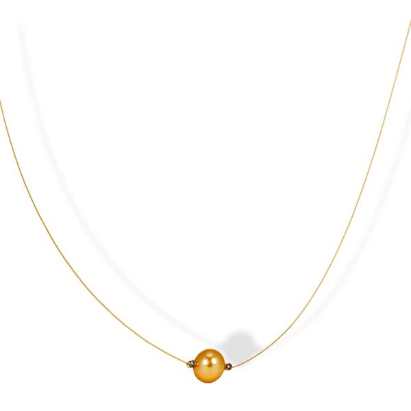 Yvel 18k Chocolate Diamond and South Sea Pearl Necklace