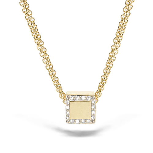 18k Yellow Gold Pendant w/ Diamonds