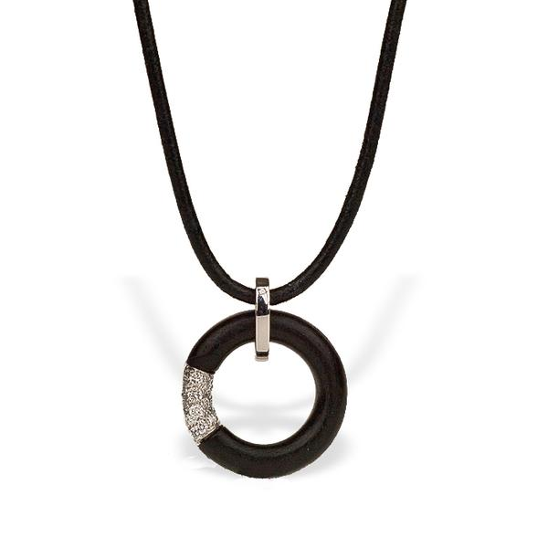 Black Ebony and Diamond Necklace