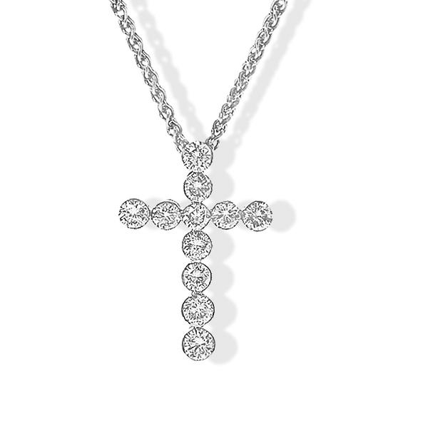 Diamond Cross w/ White Gold
