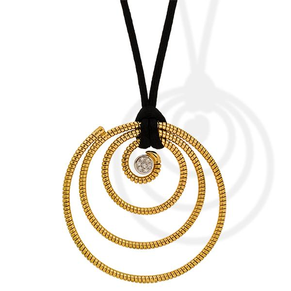 K Di Koure 18k and Diamond Pendant
