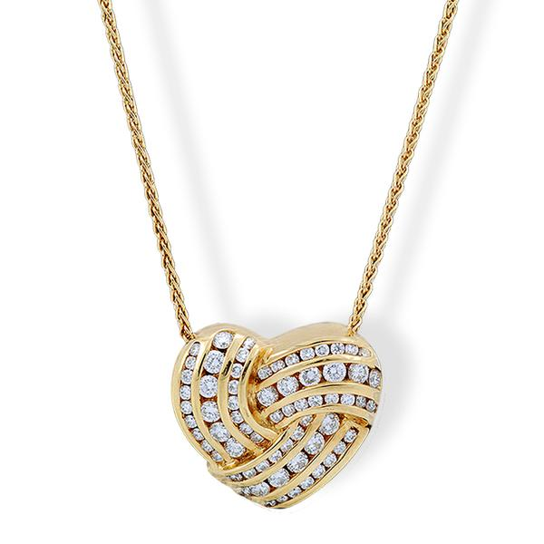 Charles Krypell 18k and Diamond Heart Locket