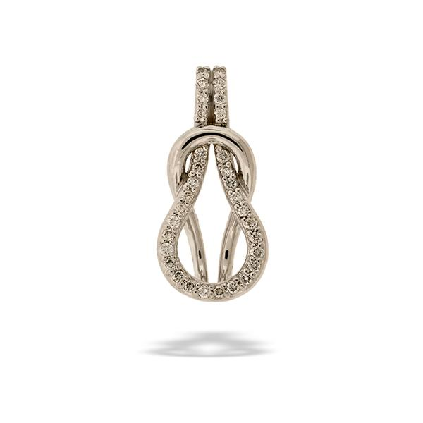 Love Knot Pendant with 14k and Diamonds