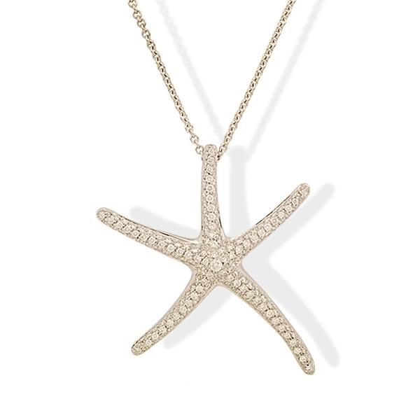 Crivelli Large 18k and Diamond Starfish