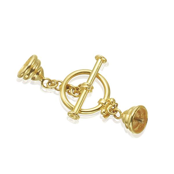 18KT. YELLOW GOLD, TOGGLE MYSTERY CLASP